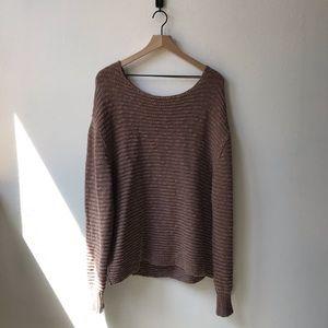 Free people mauve oversized sweater